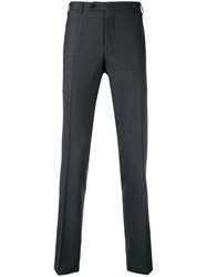 Canali Straight Leg Tailored Trousers Blue