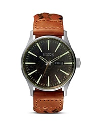 Nixon The Sentry Watch 42Mm Dark Copper Saddle