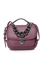 Deux Lux Roma Chain Cross Body Bag Burgundy