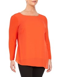 Vince Camuto Plus Ruched Side Tunic Pimento