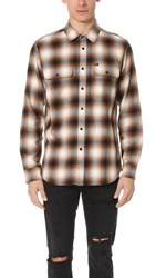 Obey Dobbs Woven Shirt Brown Multi