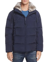 Marc New York Navan Hooded Puffer Jacket Ink