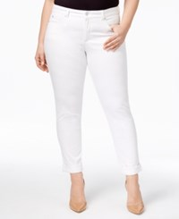 Charter Club Plus Size Boyfriend Jeans Only At Macy's White Wash