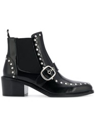 Coach Studded Chelsea Boots Black