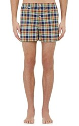 Sleepy Jones Men's Plaid Jasper Boxers Navy No Color Navy No Color