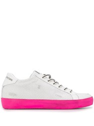 Leather Crown Low Top Sneakers White