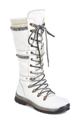 Bos. And Co. Women's Gabriella Waterproof Boot White Off White Leather