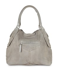 Liebeskind Leather Satchel Hyena Grey