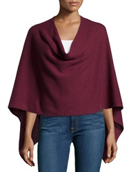 Minnie Rose Cashmere Cowl Neck Asymmetric Hem Poncho Port
