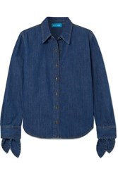 Mih Jeans M.I.H Larsen Tie Detailed Denim Shirt Dark Denim