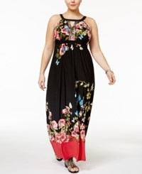 Inc International Concepts Plus Size Printed Maxi Dress Only At Macy's Butterfly Print