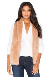 Bcbgeneration Faux Fur Vest Tan