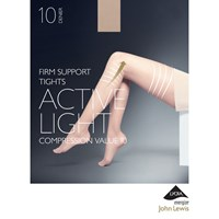 John Lewis 10 Denier Firm Support Active Light Sheer Tights Nude