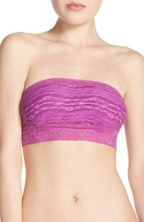Women's Free People Scalloped Lace Bandeau Neon Orchid