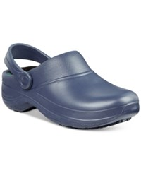 Easy Street Shoes Works By Time Clogs Women's Navy