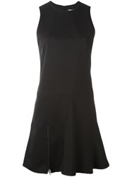 Paco Rabanne Zip Detailing Flared Dress Black