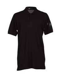 Y 3 Polo Shirts Black