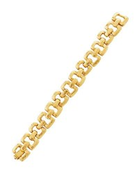 Jose And Maria Barrera Golden Hammered Link Bracelet