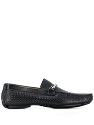 Cesare Paciotti Weaved Style Loafers Blue
