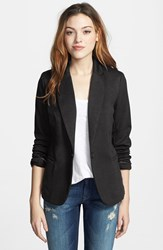 Olivia Moon Women's Knit Blazer Black