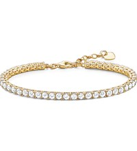 Thomas Sabo Gold Plated Zirconia Tennis Bracelet