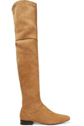 3.1 Phillip Lim Louie Suede Over The Knee Boots Light Brown