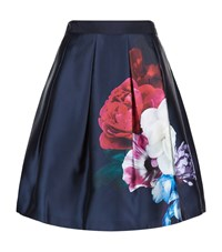 Ted Baker Lipka Floral Print Skirt Female Navy