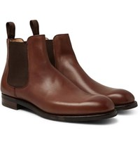 Cheaney Godfrey Burnished Leather Chelsea Boots Brown
