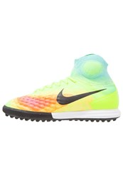 Nike Performance Magistax Proximo Ii Tf Astro Turf Trainers Volt Black Hyper Turquoise Total Orange Pink Blast Yellow