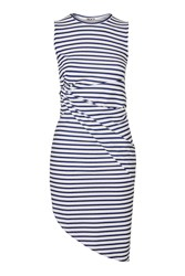Backless Stripey Knot Dress By Wal G White