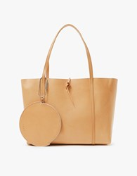 Kara Tie Tote W Pouch In Nude