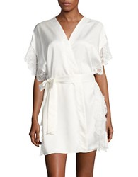 Flora Nikrooz Lace Trim Robe White