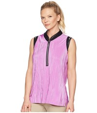 Jamie Sadock Crunchy Textured Sleeveless Top Desire Pink