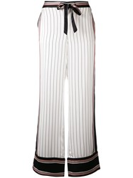 Equipment Kate Moss Striped Trousers White