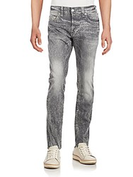 True Religion Pre Distressed Granite Jeans Silver