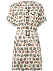 Burberry Printed Shirt Dress Nude Neutrals