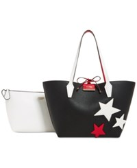 Guess Bobbi Inside Out Tote Black Red