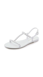 Rebecca Minkoff Sava T Strap Jelly Sandals White