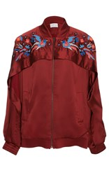 Tanya Taylor Embroidered Satin Pyper Jacket