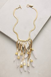 Anthropologie Seraphina Bib Necklace Clear