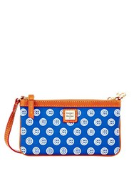 Dooney And Bourke Cubs Large Slim Wristlet Blue