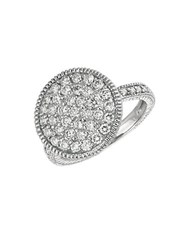 Morris And David Diamond Ring In 14 Kt. White Gold