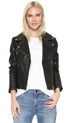 Soia And Kyo Hadley Leather Jacket Black