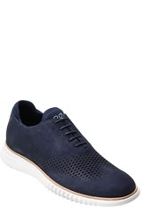 Cole Haan Men's '2.0 Grand' Plain Toe Oxford Marine Blue Optic White