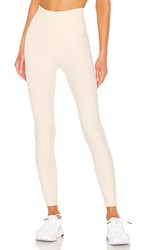 Beyond Yoga Spacedye Caught In The Midi High Waisted Legging In Cream. Sandstone And Almond