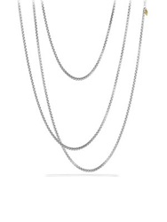 David Yurman Medium Box Chain Necklace With Gold 72 Silver Gold