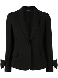 Paule Ka Bow Detail Fitted Blazer Black