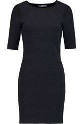 Autumn Cashmere Jacquard Knit Mini Dress Blue