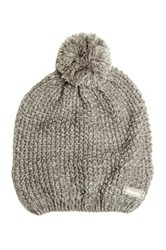 Bench Smoked Pearl Knit Bobble Beanie Gray