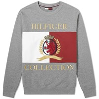 Tommy Jeans Hilfiger Collection Crest And Flag Crew Sweat Grey